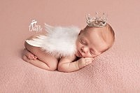 sweet angel baby with wings and crown