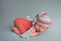 Newborn with Coral and teal