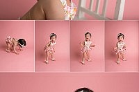 1 year old photo shoot standing