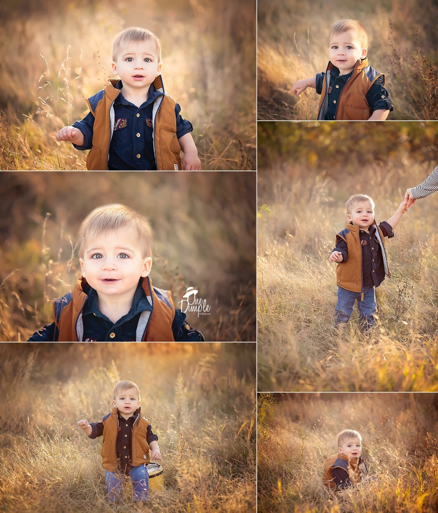 1 year baby session outdoors