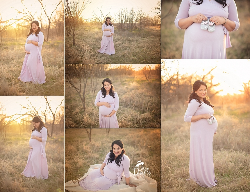 DFW outdoor winter maternity session