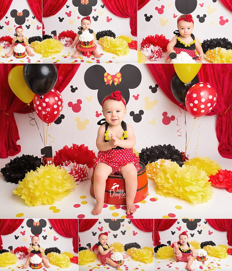 Mickey Mouse Smash Cake: DFW Cake Smash Photographer