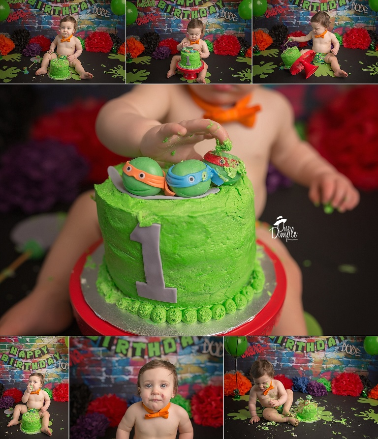 Ninja Turtles Cake Smash | Southlake Cake Smash Session